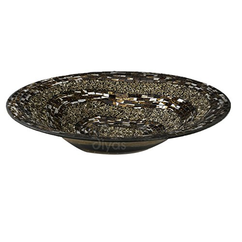 Ira Mosaic Platter Brown/Gold