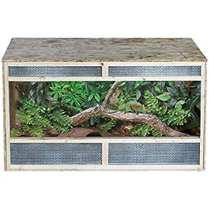 pawhut Autositz Reptile Pet Vivarium Home House Terrarium Habitat Leopard Geckos Eidechse Holz umweltfreundlich OSB–80cm x 50cm 50