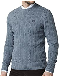 Henri Lloyd Cable Knitwear Jumper - Kramer Mirage Blue M