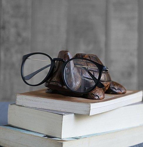 Kamla Sellers Brillenhalter Holz Schlüsselanhängerform Ständer Handgefertigt Display Optische Gläser Zubehör Schildkröte