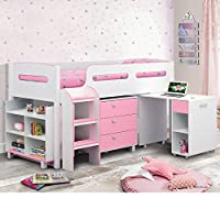Happy Beds Kimbo Sleep Station Children Kids Cabin Bunk Bed Storage Drawers 3' Single 90 x 190 cm