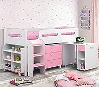 Happy Beds Kimbo Sleep Station Children Kids Cabin Bunk Bed Storage Drawers 3