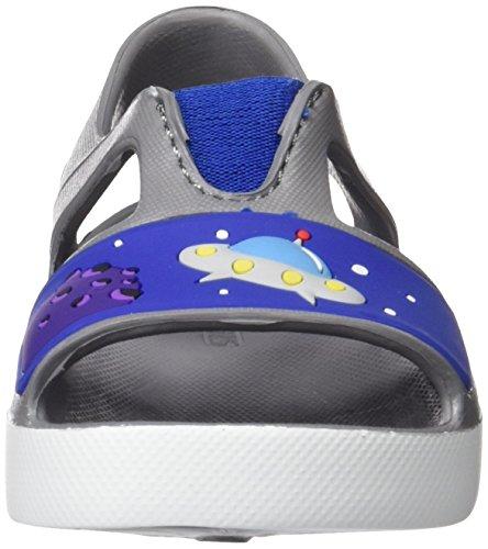 Skechers Lil Steppers, Sandales Bout Ouvert Garçon Gris (Gybl)