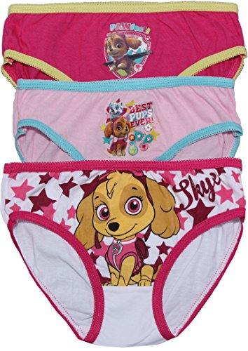 Paw Patrol Girls Skye Childrens 3 Pack Underwear Briefs Set By BestTrend (4-5 Years)