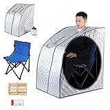 Sauna Portatile, 220 V 1000 W Cerca di Sauna Cabina Termico Pieghevole Terapeutica Vapore Spa Sedia Pieghevole per Casa Spa Doccia, 2L