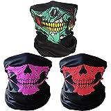 Richie negro máscara respiratoria transpirable tubo cráneo máscara, máscara facial de 3 piezas moto, colorido (008)