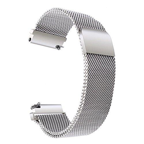 Preisvergleich Produktbild TRUMiRR 18mm Milanese Loop Armband Magnetverschluss Uhrenarmband für 36mm Daniel Wellington,  Huawei Watch Classic / Active,  Withings Steel HR 36mm,  Withings Activité POP / Steel / Sapphire,  Fossil Q Tailor und Sonstige mit 18mm Stegbreite