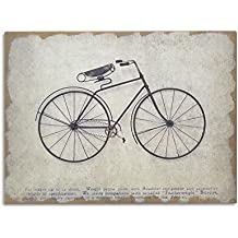 Moycor Decoracón - Cuadro, madera/metal, diseño bicicleta, 80 x 4,5 x 60 cm, color negro