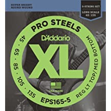 D'Addario EPS165-5 Set Corde Basso Prosteel