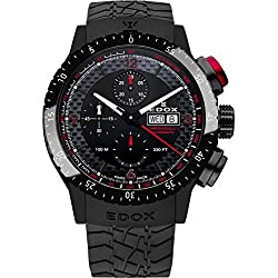 Edox Chronorally1 reloj hombre automática cronógrafo 01118 37NR NRO