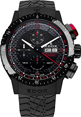 Edox Chronorally1 gentles watch automatic chronograph 01118 37NR NRO