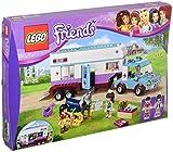 Lego 41125 Friends Pferdeanhänger und Tierärztin, Spielzeug für Jungen und Mädchen
