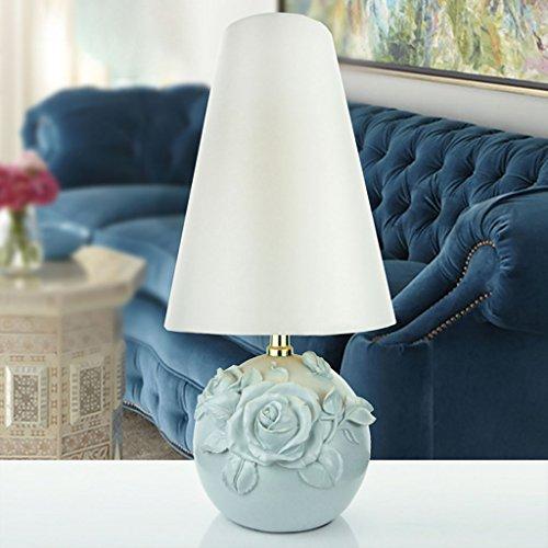 Tischlampe Rose Blumenmuster amerikanische Tischlampe Schlafzimmer Nachttischlampe Rustikale retro Nachttischlampe (Farbe : C)