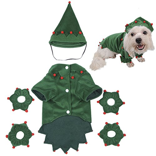 (yunt Funny Puppy Hund Katzen Halloween Kostüme Kleidung Wizard Kleid mit Hut Einzigartiges Weihnachts Geschenk)