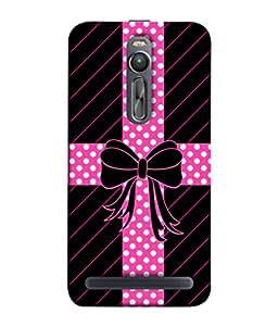 PrintVisa Designer Back Case Cover for Asus Zenfone 2 ZE551ML (Great colour Rare pattern Exclusive ribbon )