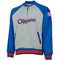 Los Angeles Clippers NBA grandes juventud 1/4Zip Pullover Sudadera, gris