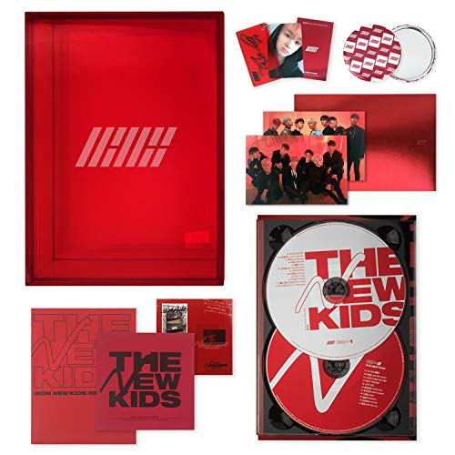 IKON New Kids Repackage Album - THE NEW KIDS [ RED ver. ] 2CD + Photobook + Lyrics Book + Photocard + Postcard + Sticker + Keyring + On Pack Poster + FREE GIFT / K-Pop Sealed