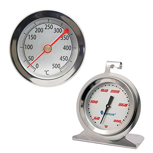 Lantelme 4161 Set 500�C Degree BBQ Thermometer and 300�C Oven Thermometer