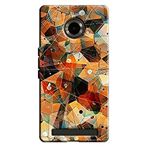 ABSTRACT DESIGN BACK COVER FOR MICROMAX YU YUPHORIA