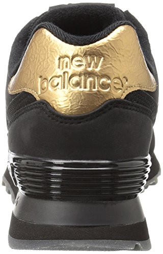 New Balance 574, Baskets Basses Femme Noir (Black)