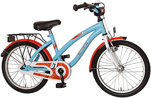 """Kinderfahrrad 18"""" Zoll (=45,7cm) RACY Cruiser hellblau-orange"""