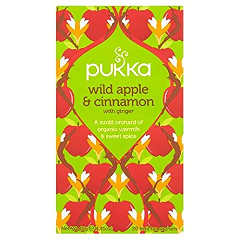 Pukka Wild Apple & Cinnamon with Ginger Teabags 20 per pack
