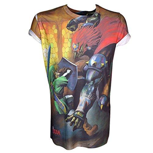 NINTENDO Legend of Zelda sublimación Print Link Hombres camiseta de L
