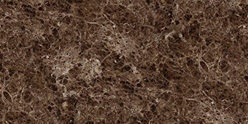 Wandverkleidung in Marmoroptik aus Acryl und Polyester für Küche • Schlafzimmer • Wohnzimmer • Bad | Wandfliesen für moderne Wandgestaltung | 120cm x 60cm x 0,35cm Emperador Brown (Marmor Fliesen Brown)