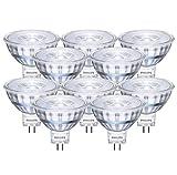 10 x Philips LED Reflektor 5W / GU5,3 / 12V / LED Lampe / LED Reflektor / Verbrauch 5 Watt ersetzt 35 Watt / 5 kWh pro 1000 Std. /Lichtfarbe Warmweiß 2700K / 390 Lumen / Abstrahlwinkel 36° / 15.000h / 8718696523490