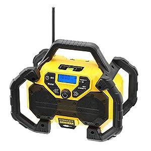 STANLEY FATMAX FMCR001B-QW – Radio con función de cargador 2Ah para baterías de litio 18V