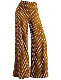 2cda5aace447 Reaso Femme Pantalon Lâche Taille Haute Stretch Mode Dentelle Insérer Jambe  Pantalon Large Sport Leggings Elastique Casual Pants…
