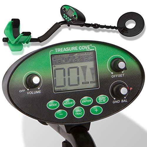 Treasure Cove Kit de detector de metales digital profesional con bobina de búsqueda resistente...