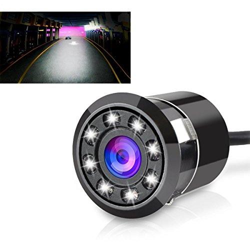 Sunrise 8 led lights night vision hd backup camera 170 degree wide viewing angle car rear view camera waterproof shockproof