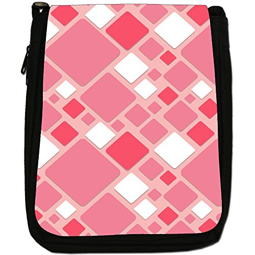Fancy A Snuggle, Borsa a spalla donna Modern Geometric Square Pattern