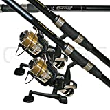 Lineaeffe Carp Rod 12ft And Carp Reel + Line Combo X 2