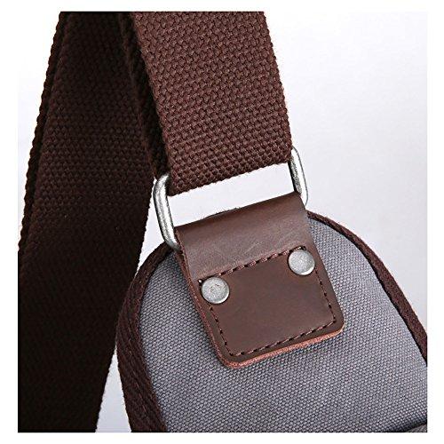 Anjcd Männer Chest Pack Baumwolle Segeltuch Schultertaschen Freizeit Messenger Bag Bewegung Kleine Rucksack 3#
