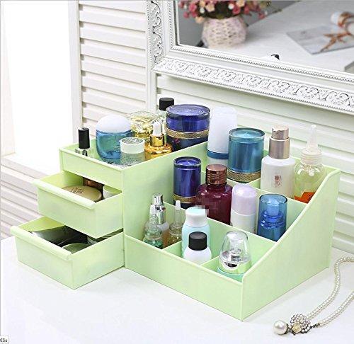 Boîte de rangement plastique Articles ménagers grand encombrement du Bureau bijoux . green