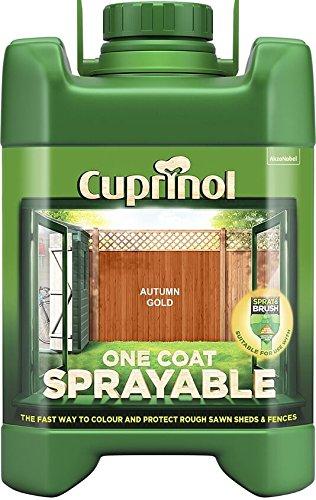Cuprinol 5L Spray Fence Treatment Autumn Gold
