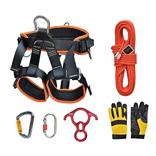 TZB Outdoor Bergsteigen Klettern Geschwindigkeit Drop Set High Air Job Schutz Set Lock Catch Speed   Drop Seil Sicherheitsgurt Abseilgerät (Farbe : 30M) -