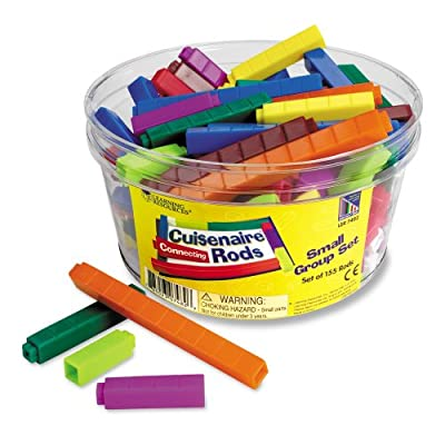 Learning Resources Interlocking Plastic Cuisenaire Rods Small Group Set (Set of 155) by Learning Resources