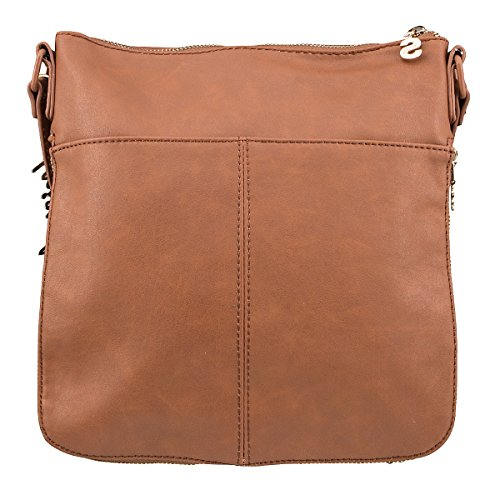 Borsa da mano Moscu Blondie Acroos Body Sudan Desigual h15-Brown marrone