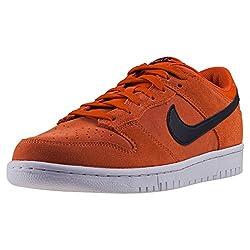 Nike Dunk Low Mens Trainers Orange Black - 8 Uk