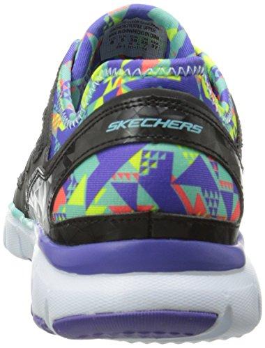 Skechers - Skech-flexultimate Reality, Scarpe da ginnastica Donna Black Synthetic/Mesh/Multi Trim