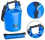Xcase Packtasche: Wasserdichter Packsack, strapazierfähige Industrie-Plane, 10 l, blau (Packsäcke aus LKW-Plane)