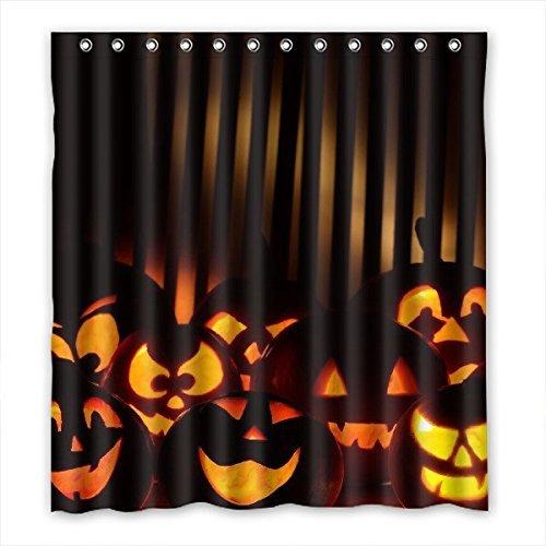 Doubee personalizzato Halloween tenda da doccia impermeabile bagno 167cm x 183cm, 167,6x 182,9cm