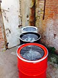 Srm-Design Holzkohlegrill Kugelgrill BBQ Grill Fass Grillfass Garten Camping-Grill Barbecue Schwarz/Durchmesser: 57cm/Höhe: 86 cm