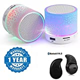 #7: Captcha LED Light Crack Stereo Portable Wireless Bluetooth Speaker With S530 Bluetooth Headset