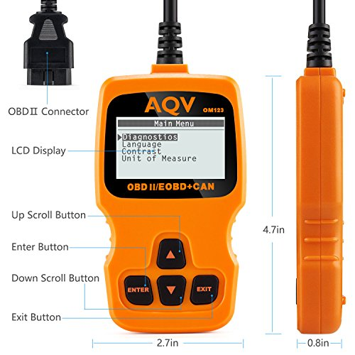 OBD2/OBD II,Father's Day Gifts for Dad, AQV Code Reader OBD Scanner