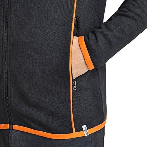 NoOrange Herren Sweatjacke Full Zip Schwarz Jacke schwarz