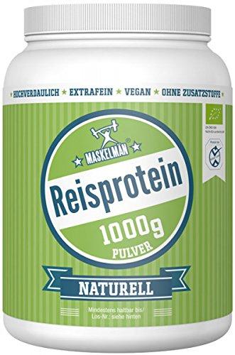 Bio Reisprotein (1000g) | Eiweißpulver | Veganes Protein Pulver | Ideal für Fitness und Muskelaufbau | 83{a16e7c93d61b91f095c301f5a8b122daa857a20ae2df2b72ddbaa77809e25484} Protein | Ideal für Low Carb, Paleo und Keto